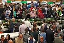 JAKO V ÚLE. V boršickém kulturní domě bylo plno vínomilců ještě před oficiálním zahájením velikonoční výstavy vín.