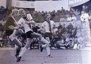Trenér fotbalistů Kunovic Vratislav Chaloupka dva roky nosil dres pražské Sparty. Potom hrál i v Plzni, Jablonci nebo Hradci Králové.
