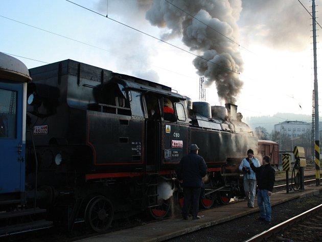 Parní lokomotiva Matěj. Ilustrační foto.