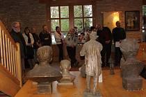Buchlovičtí si na výstavě František David, akademický sochař a buchlovický rodák 1913 až 2013, připomenuli jubileum významného umělce.