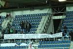 Fanoušci Hradce – choreo proti vedení klubu