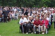 Poutníků dorazilo v neděli na Sv. Antonínek kolem deseti tisíc.