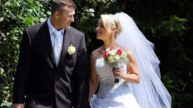 Soutěžní svatební pár číslo 46 - Barbora a Miroslav Hamplovi, Náměšť na Hané