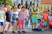 Magic festival 2018 v Uherském Hradišti. Kouzelné náměstí na Masarykově náměstí.