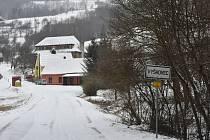 Slovácko zasypal v úterý sníh.