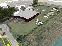 Vizualizace: Letecké muzeum je nutné co nejdříve zastřešit.