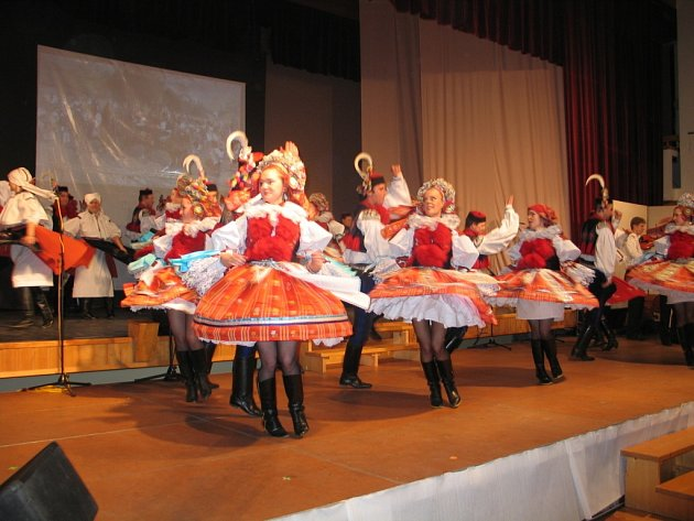 Nekončícím potleskem ocenili v sobotu 17. listopadu večer návštěvníci vlčnovského Klubu sportu a kultury premiérový pořad souboru Vlčnovjan s názvem Z malířovy palety.