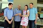 Předávání prstenu  svatebnímu páru roku Evě a Martinovi Motlovi v Uherském Hradišti.