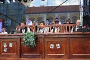 Vojtěch Dyk s kapelou B-SIDE BAND na Masarykově náměstí v Uherském Hradišti