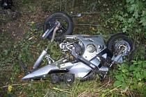 Další motorkář nezvládl jízdu buchlovskými horami.