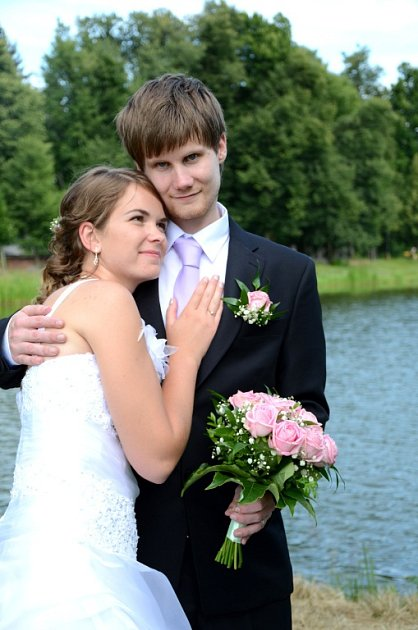 Soutěžní svatební pár číslo 76 - Lenka a Ladislav Olšákovi, Šumperk