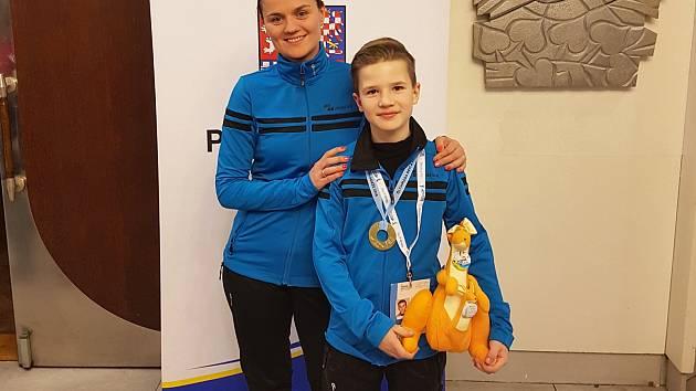 Adam Tarabus s trenérkou Kateřinou Tykalovou