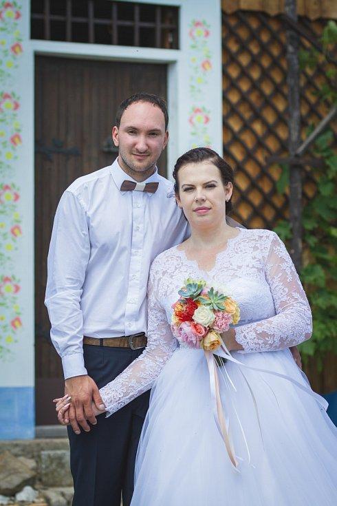 Soutěžní svatební pár číslo 6 - Denisa a Marek Botkovi, Vlčnov