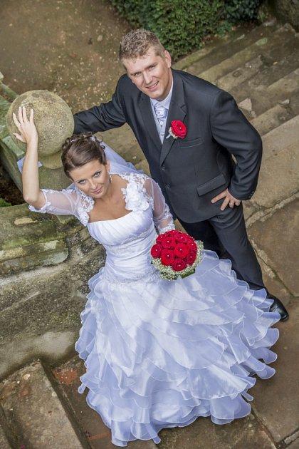 Soutěžní svatební pár číslo 241 - Tamara a Petr Soškovi, Nedakonice.