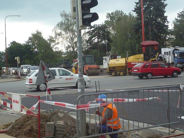 Rekonstrukce hradišťské světelné křižovatky
