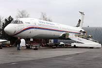 Restaurování letadla TU-154 M v leteckém muzeu v Kunovicích.
