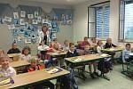 Letos ZŠ UNESCO otevírá tři první třídy (58 žáků). Celkem bude školu navštěvovat 650 školáků. Třídu  1.B (19 žáků) bude učit paní učitelka Mgr. Alena Rumíšková.