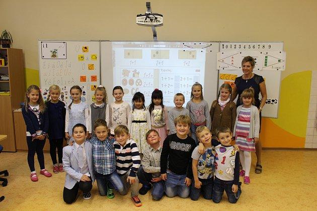 1. B vUherském Ostrohu, třídní učitelka Jitka Plaširybová.