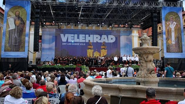 Koncert lidí dobré vůle na Velehradě. Ilustrační foto