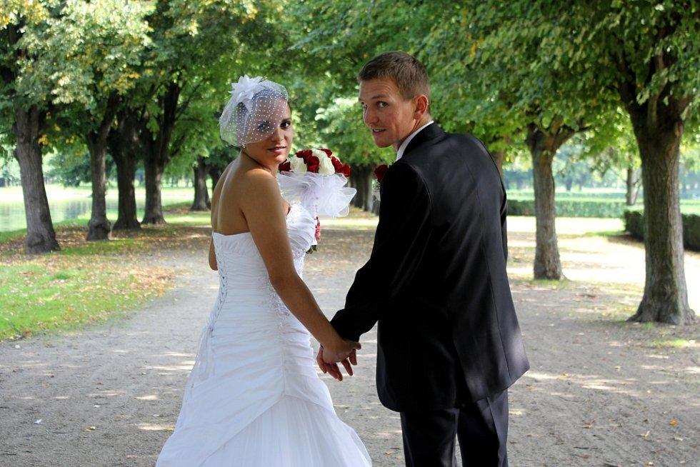 Soutěžní svatební pár číslo 271 - Lucie a Lukáš Karáskovi, Holešov.
