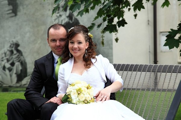 Soutěžící svatební pár číslo 32 - Marta a Martin Haderkovi, Křelov.