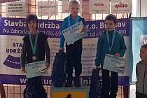 Jakub Tykal z BK Uherský Brod zvítězil na závodech v Břeclavi v kategorii nováčci.