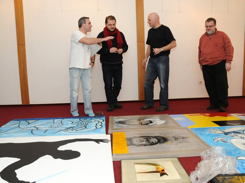 Výstava skupiny Nakrčení  - Jan Karásek, Vladimír Kovařík, David Zezula a Jiří Salajka