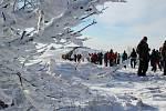 Několik tisícovek lidí z obou stran hranice si hodinu po silvestrovském poledni přišlo na vrchol Velké Javořiny zazpívat československou hymnu a zapálit vatru bratrství.