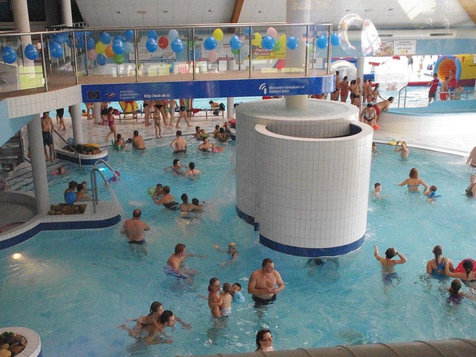 Aquapark Delfín v Uherském Brodě. Ilustrační foto.