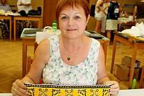 Výšivkářka Jarmila Kraváčková z Babic.