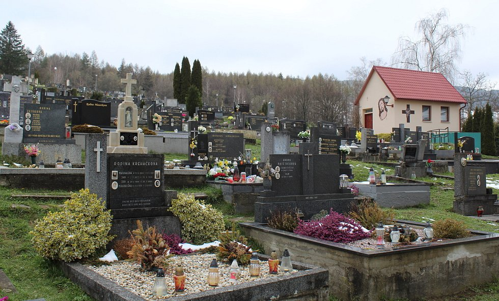 Prohlídka Březové, vesnice pod Velkým Lopeníkem na moravsko-slovenském pomezí. Hřbitov