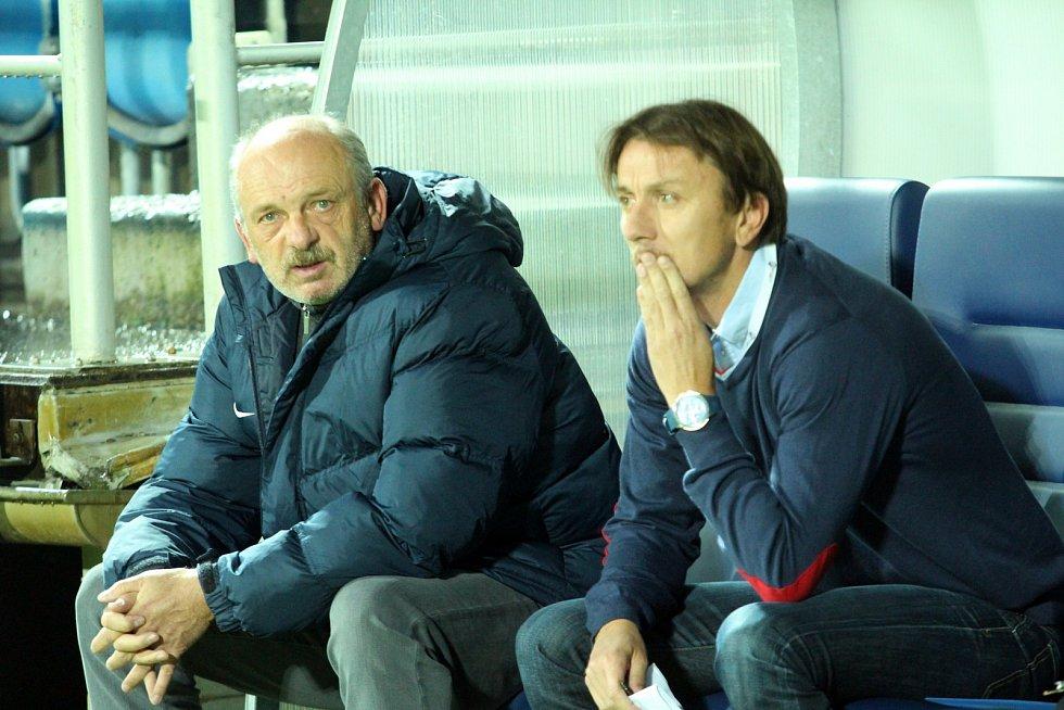 Trenér 1. FC Slovácko Michal Kordula (vpravo).