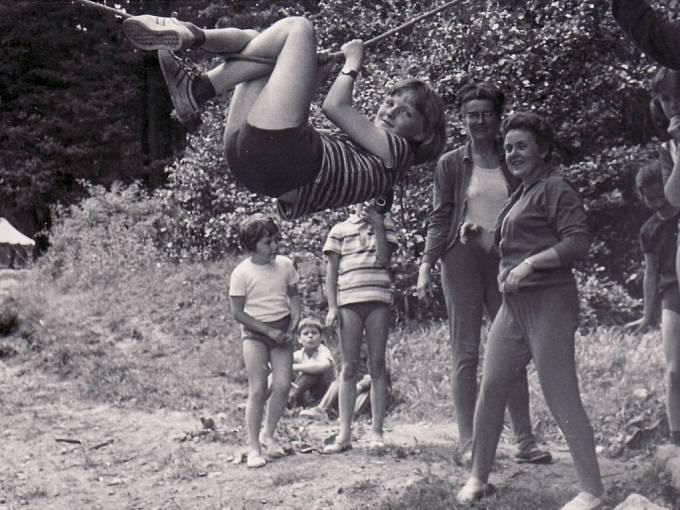 Strání–Květná v roce 1973.