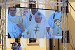 Národní cyrilometodějská pouť před velehradskou bazilikou 5. července 2020. Na snímku Apoštolský nuncius v ČR Daniel Balvo.