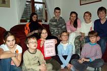Děti z hradišťského dětského domova.