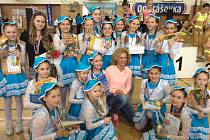 Nejmladší závodnice z klubu 1. AC Uherský Brod se parádně předvedly na první letošní soutěži Aerobic Tour  2018. V otrokovické hale na Štěrkovišti získaly v týmových choreografiích nejen zlatou medaili, ale také cenu sympatie.