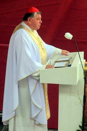 Kardinál Dominik Duka. Národní pouť na Velehradě 2014