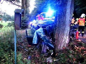 Tragická dopravní nehoda se stala mezi Bojkovicemi a Přečkovicemi