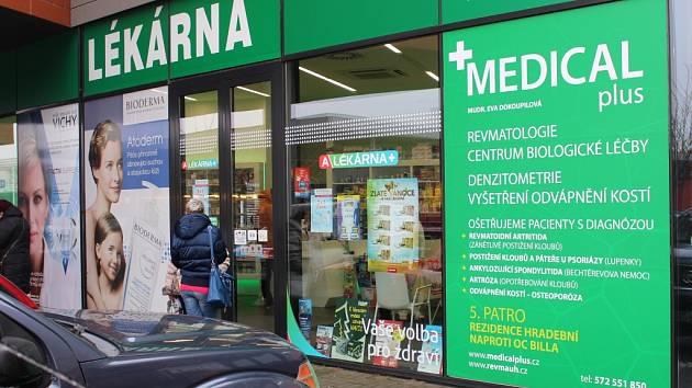 Lékárna Medical plus v Hradební ulici v Uherském Hradišti.