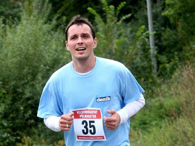 II. ročník Velkomoravský půlmaraton:  redaktor Slováckého deníku Michal Lapčík