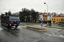 Dopravní ostrůvek. Ilustrační foto.