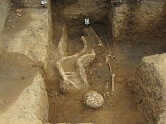 Kostry se našli v zahradě rodinného domu hned za památníkem ve Starém Městě.