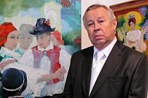 Malíř a grafik Zdeněk Hudeček z Uh. Ostrohu.