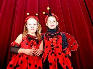 Pohádkové bytosti na dětském karnevalu v Kudlovicích