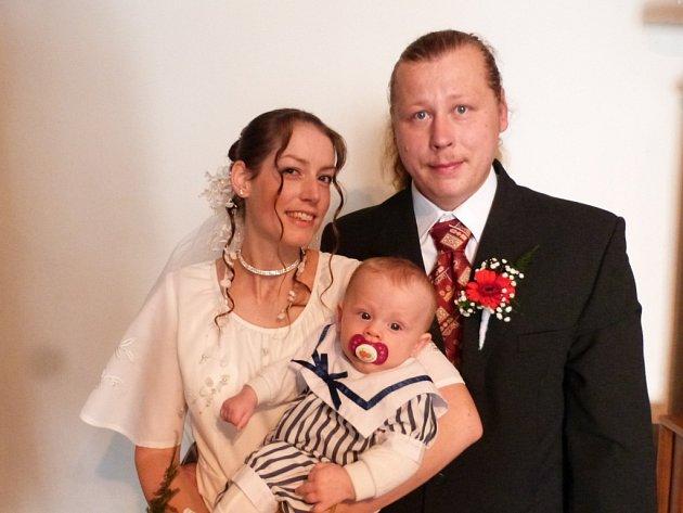 Soutěžní svatební pár číslo 185 - Alena a Jan Karczmarkovi, Hudlice.