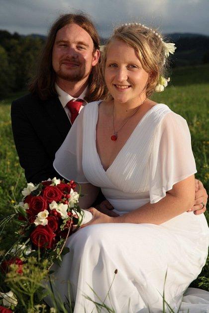 Soutěžní svatební pár číslo 91 - Anna a Ondřej Sádlíkovi, Valašská Polanka