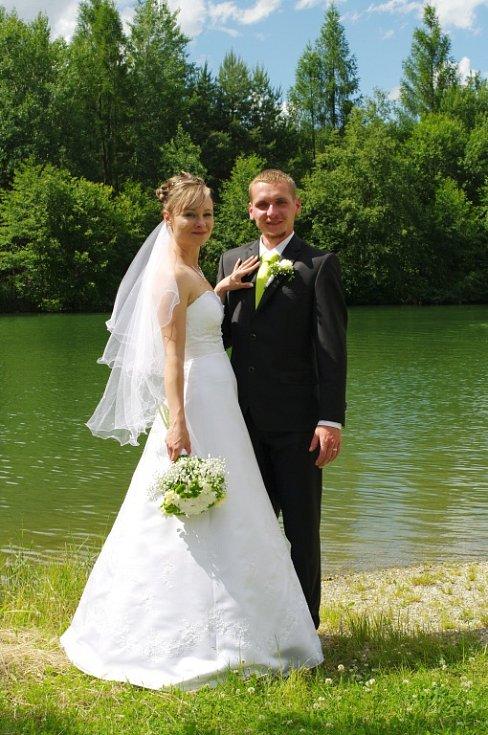Soutěžní svatební pár číslo 16 - Hana a Martin Dolákovi, Nová Ves u Litovle.