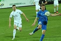 Fotbalisté Slovácka (v bílých dresech) porazili Liberec 1:0 a v lize zůstávají třetí.