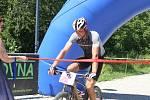 Závod horských kol při Slováckém létě v Uherském Hradišti  vyhrál nivnický cyklista František Trtek.