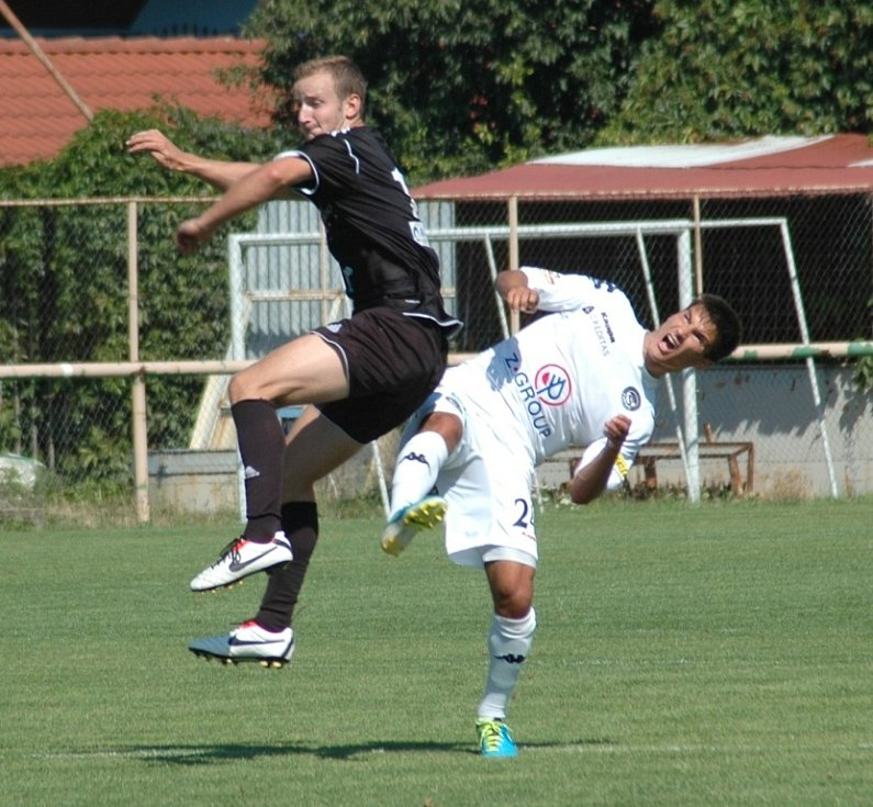 1. FC Slovácko B vs. HFK Olomouc - Vpravo Michal Trávník